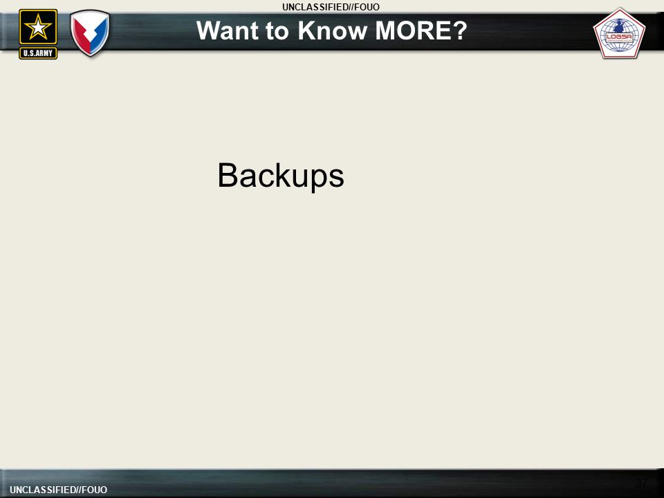 Want to Know MORE Backups