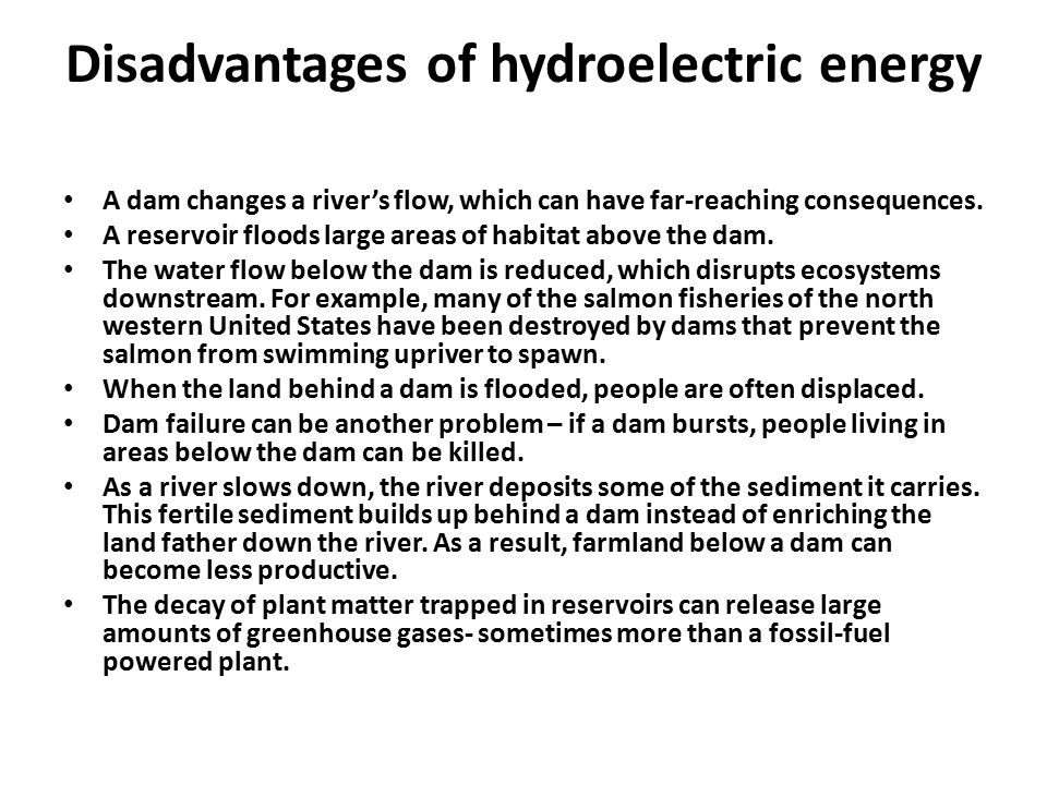 disadvantages of flood