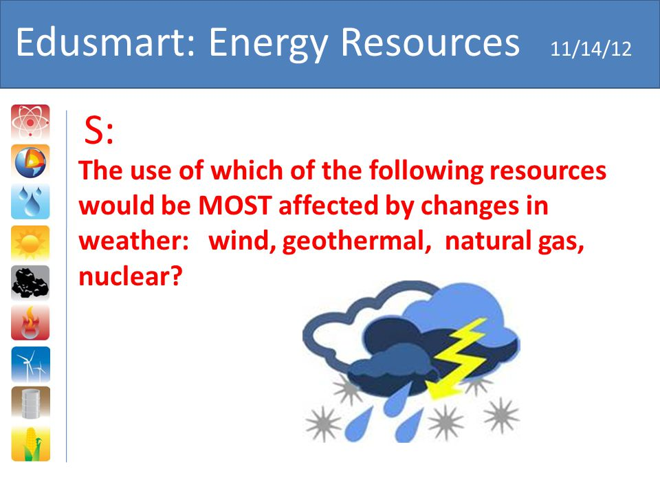 Edusmart: Energy Resources 11/14/12