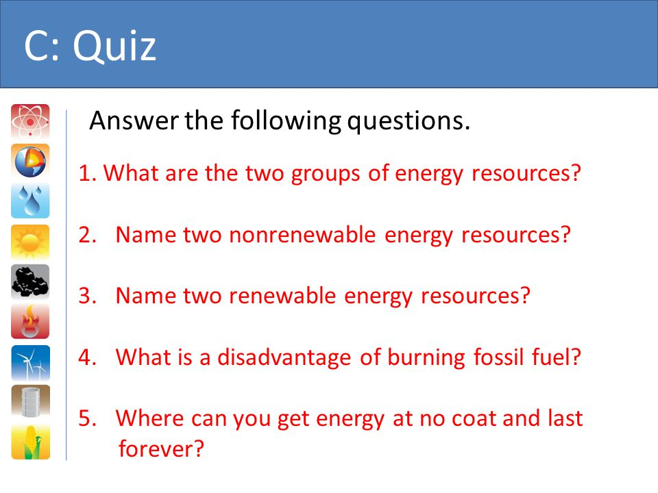 C: Quiz Answer the following questions.
