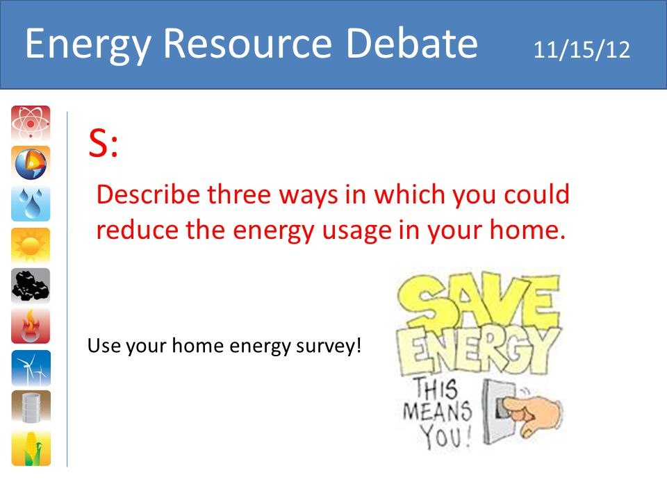 Energy Resource Debate 11/15/12