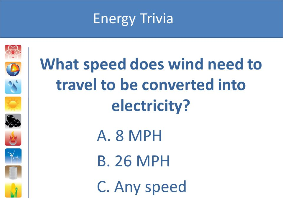 What speed does wind need to travel to be converted into electricity