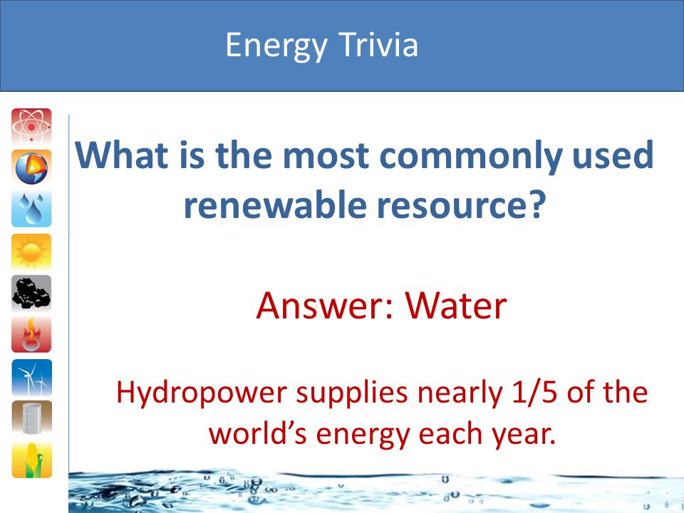 What is the most commonly used renewable resource
