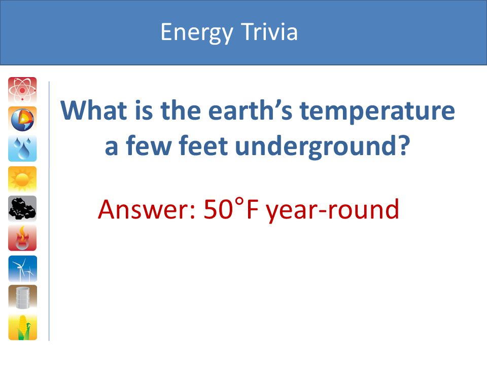 What is the earth's temperature a few feet underground