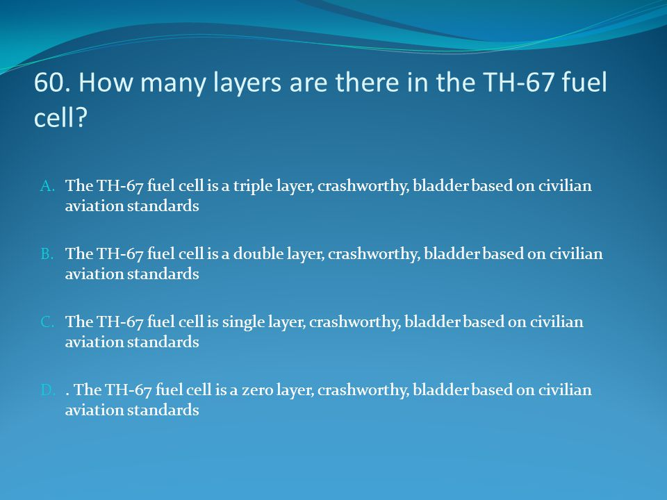 60. How many layers are there in the TH-67 fuel cell