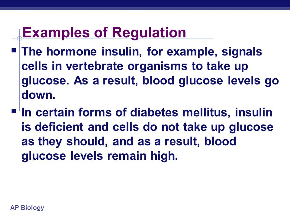 Examples of Regulation