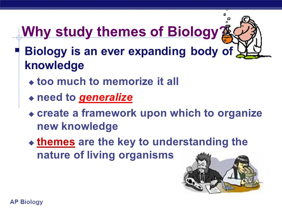 Why study themes of Biology