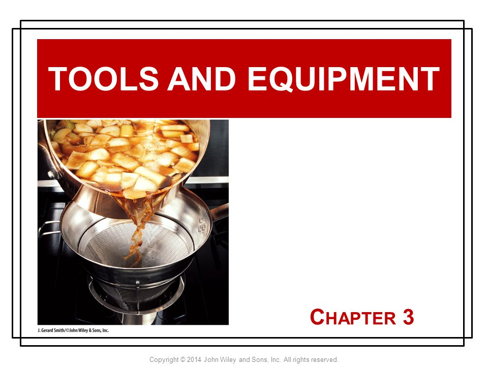Tools and Equipment Chapter 3