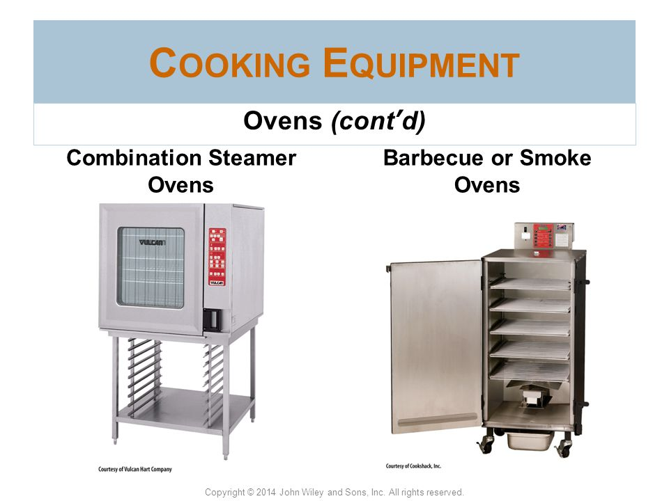 Combination Steamer Ovens Barbecue or Smoke Ovens