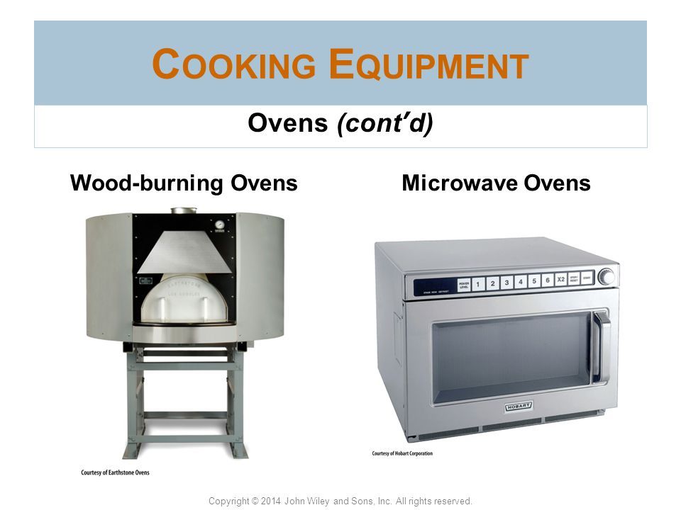 Cooking Equipment Woodburning Ovens Ovens (cont'd) Wood-burning Ovens
