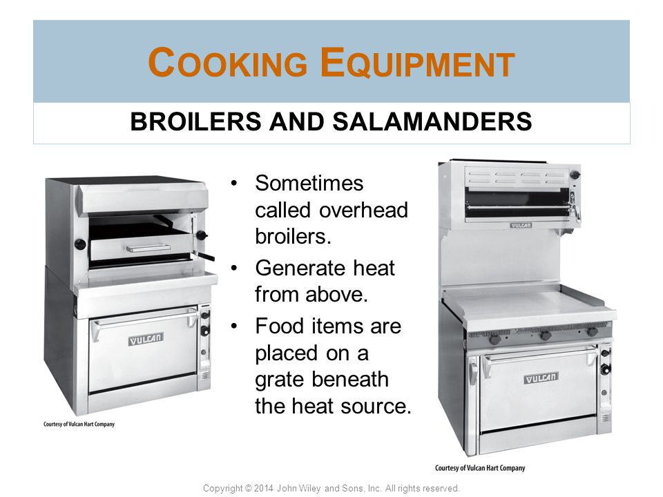 BROILERS AND SALAMANDERS
