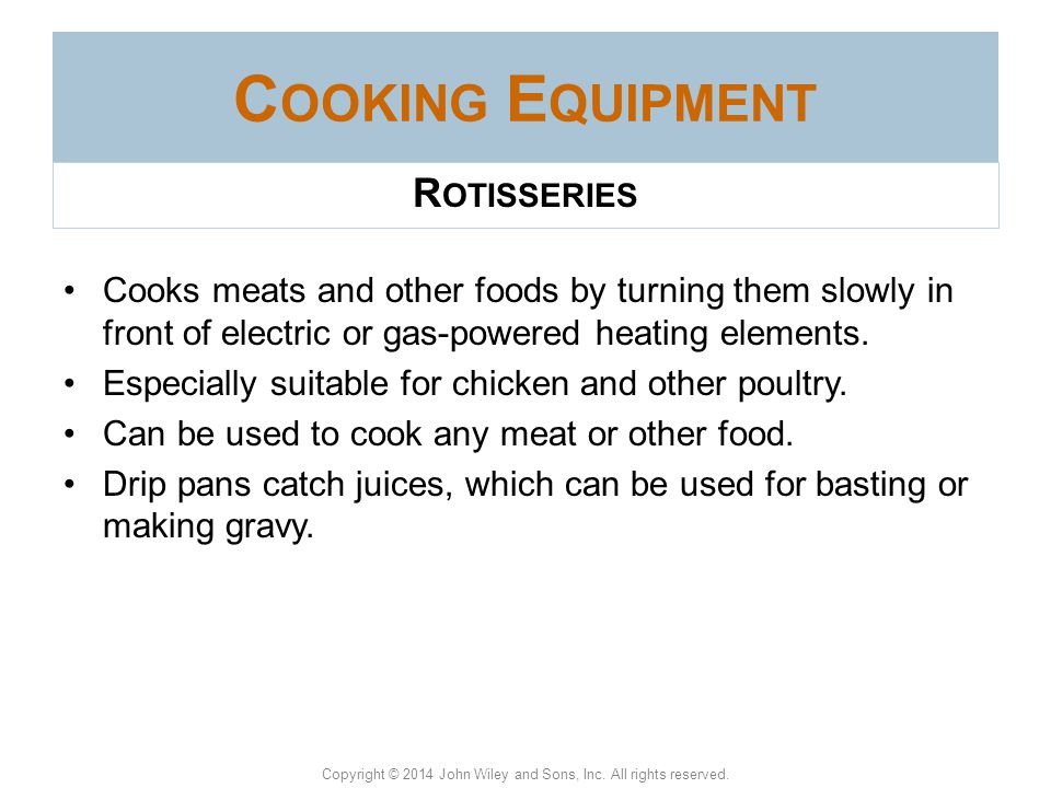 Cooking Equipment Rotisseries
