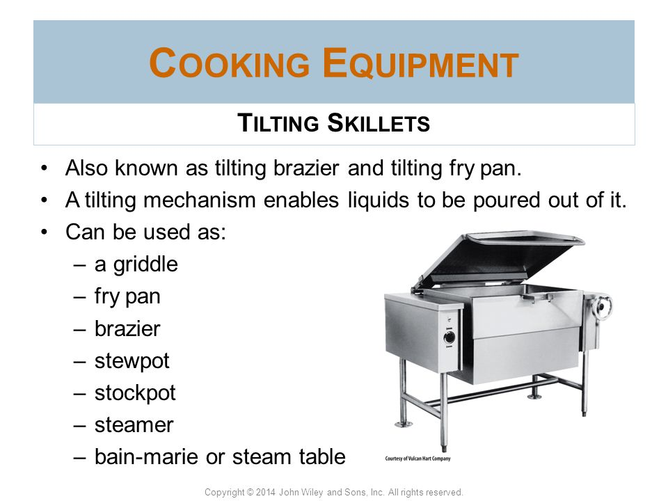 Cooking Equipment Tilting Skillets