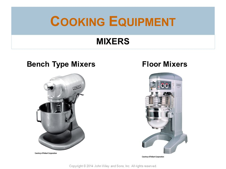 Cooking Equipment MIXERS Bench Type Mixers Floor Mixers