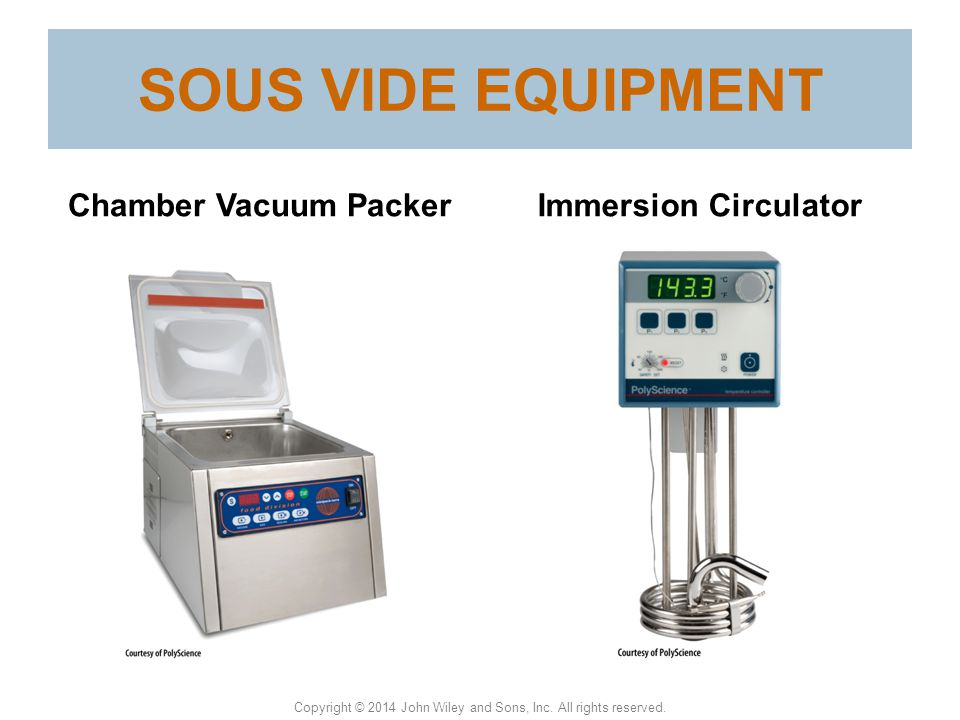 SOUS VIDE EQUIPMENT Chamber Vacuum Packer Immersion Circulator