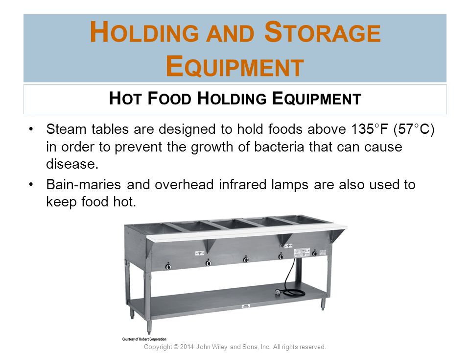 Holding and Storage Equipment