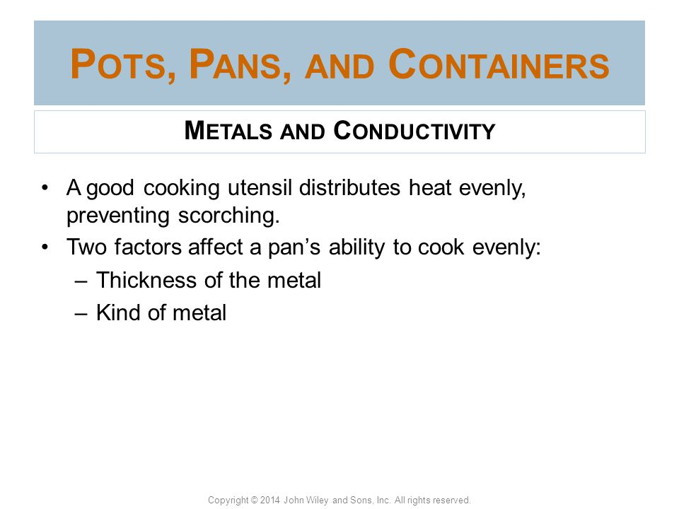 Pots, Pans, and Containers