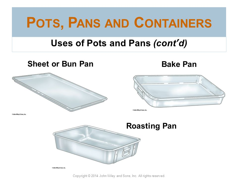 Pots, Pans and Containers