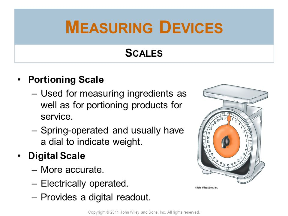 Measuring Devices Scales Portioning Scale