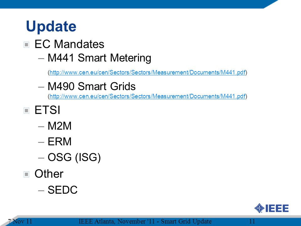 Update EC Mandates ETSI Other