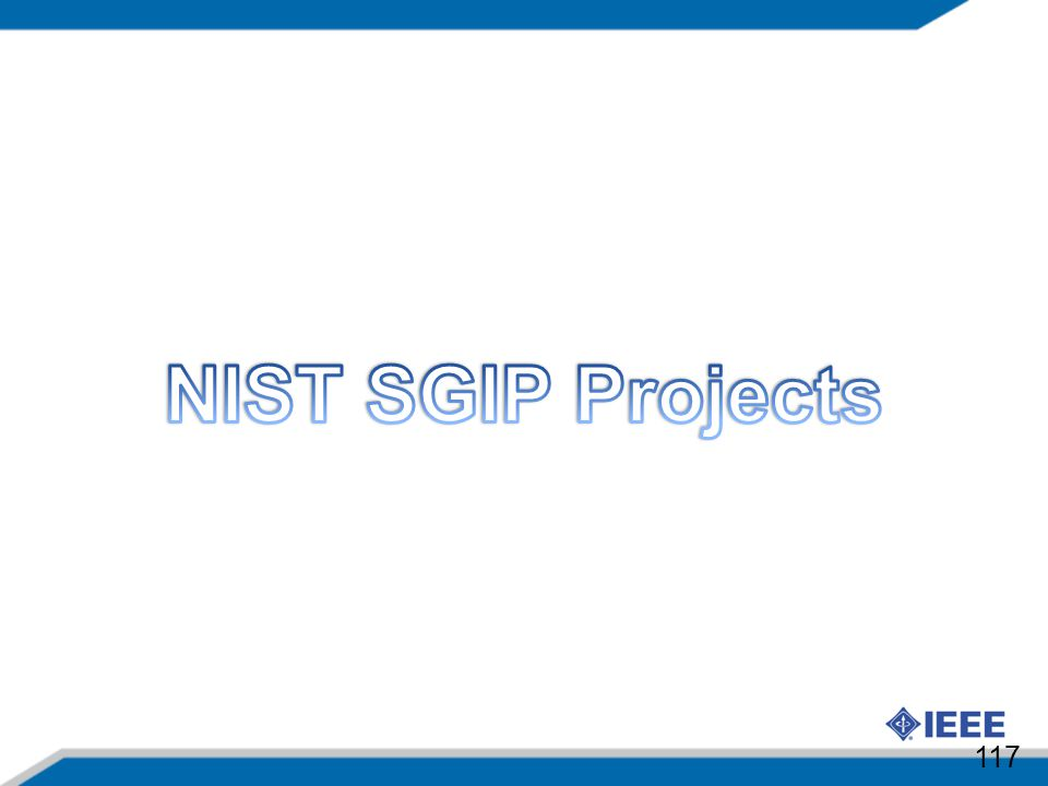 NIST SGIP Projects 117