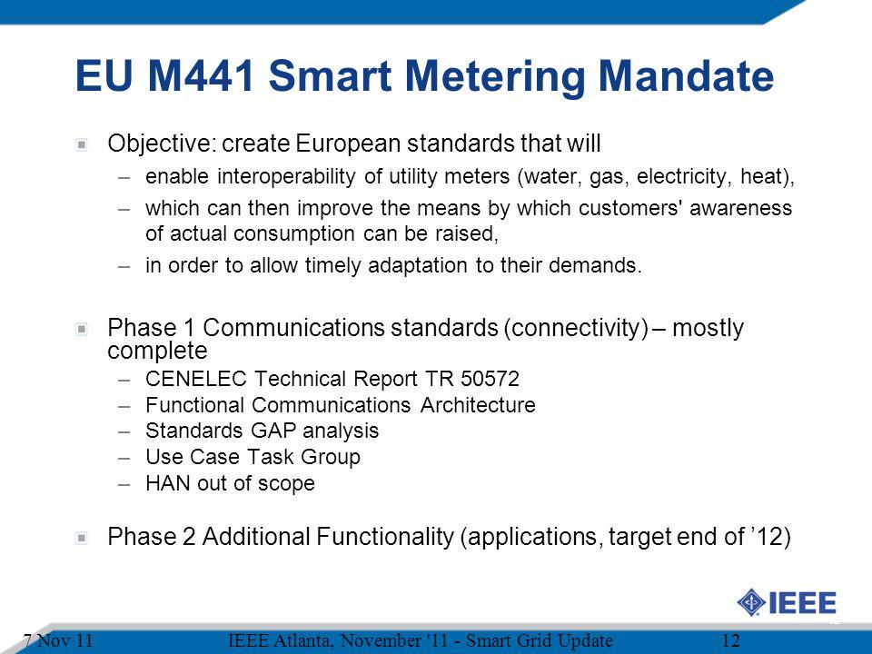 EU M441 Smart Metering Mandate