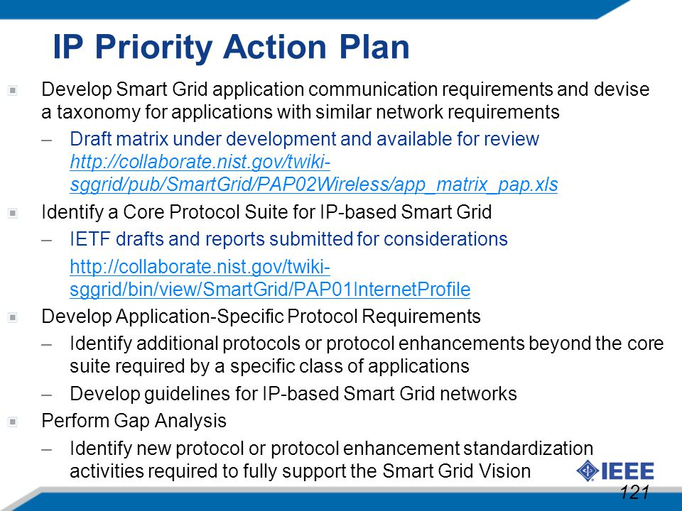 IP Priority Action Plan
