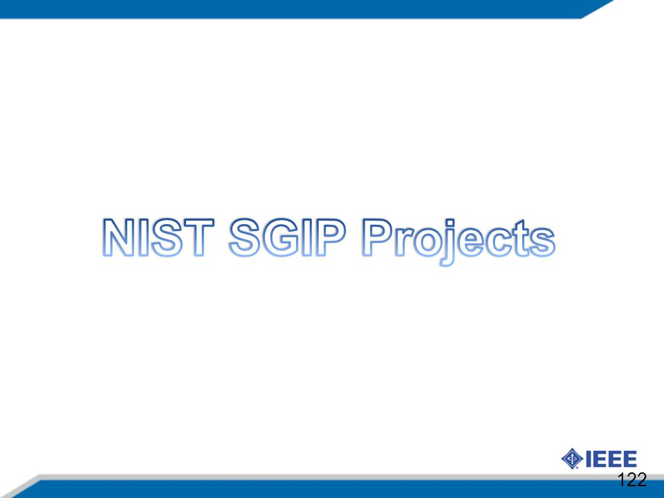 NIST SGIP Projects 122