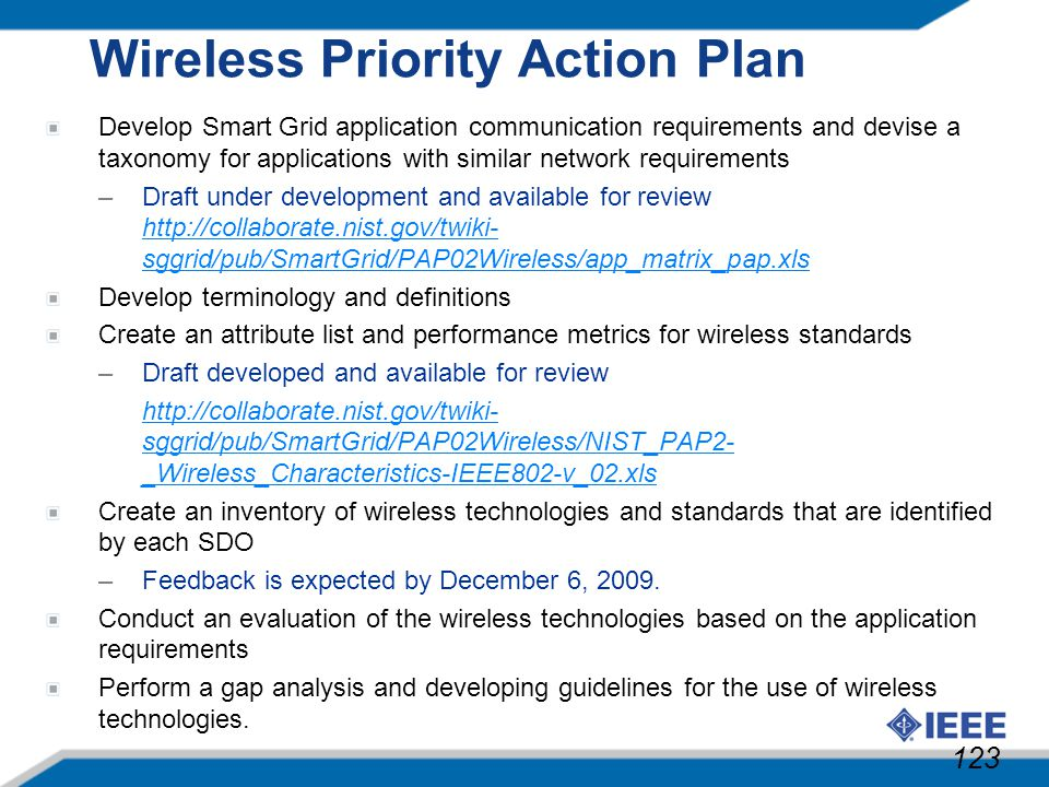 Wireless Priority Action Plan