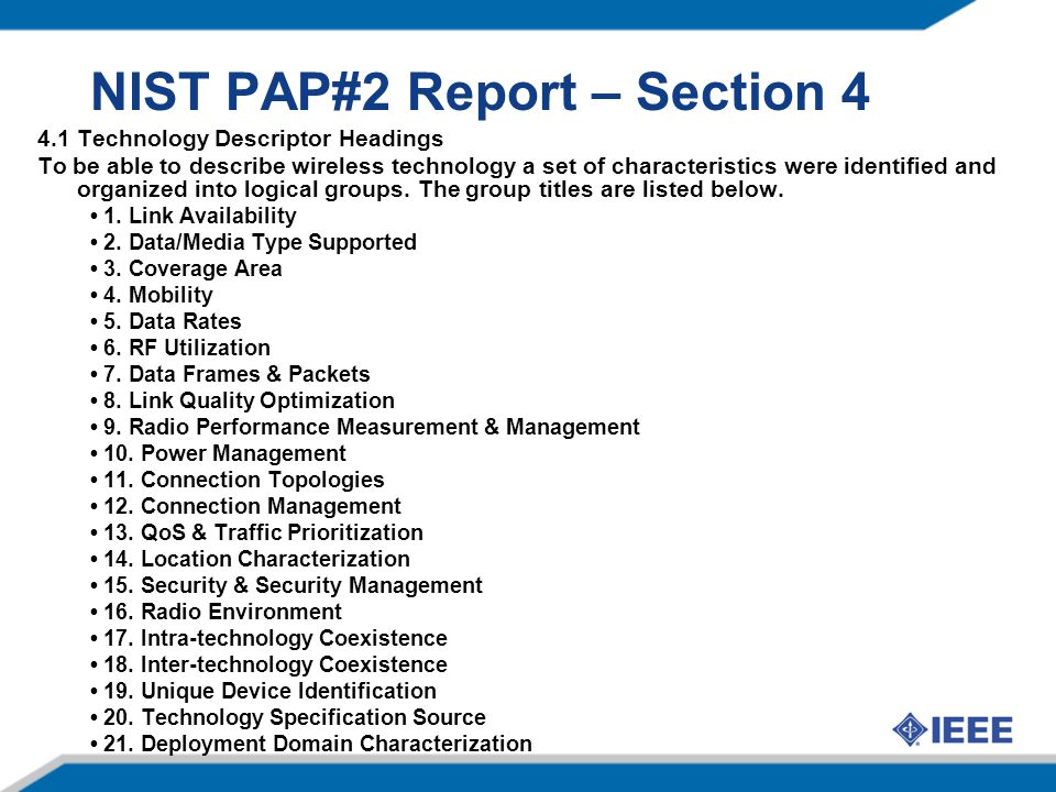NIST PAP#2 Report – Section 4