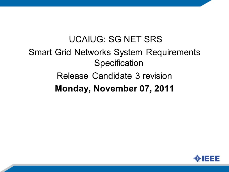 Smart Grid Networks System Requirements Specification
