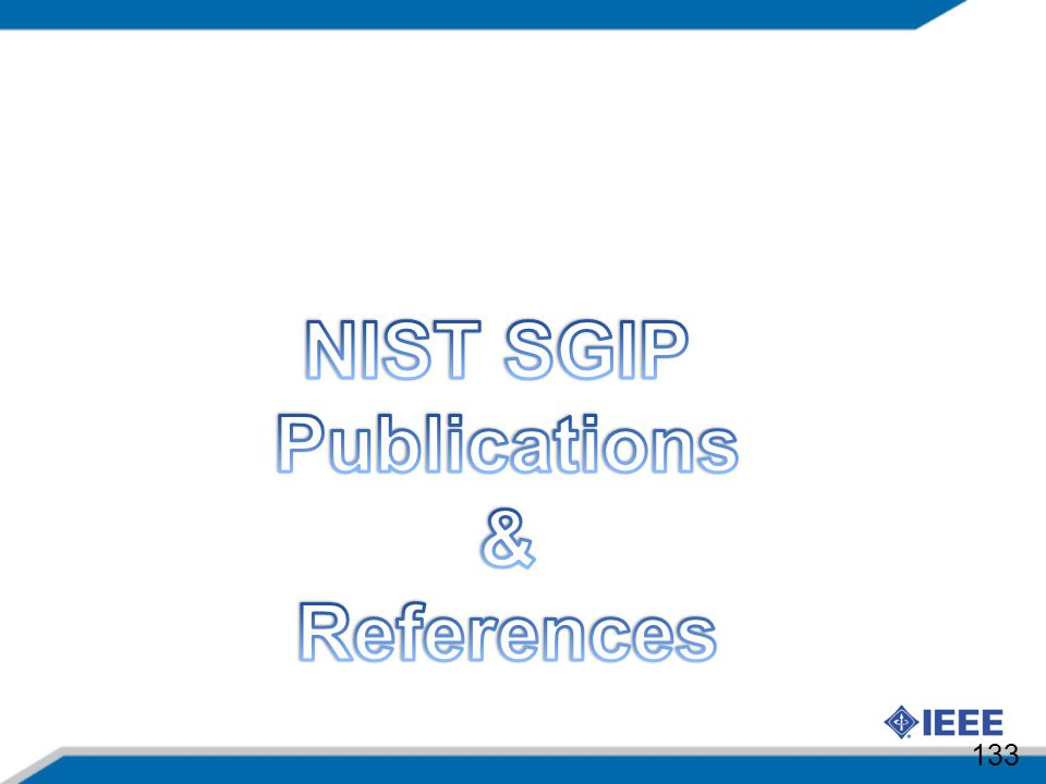 NIST SGIP Publications & References