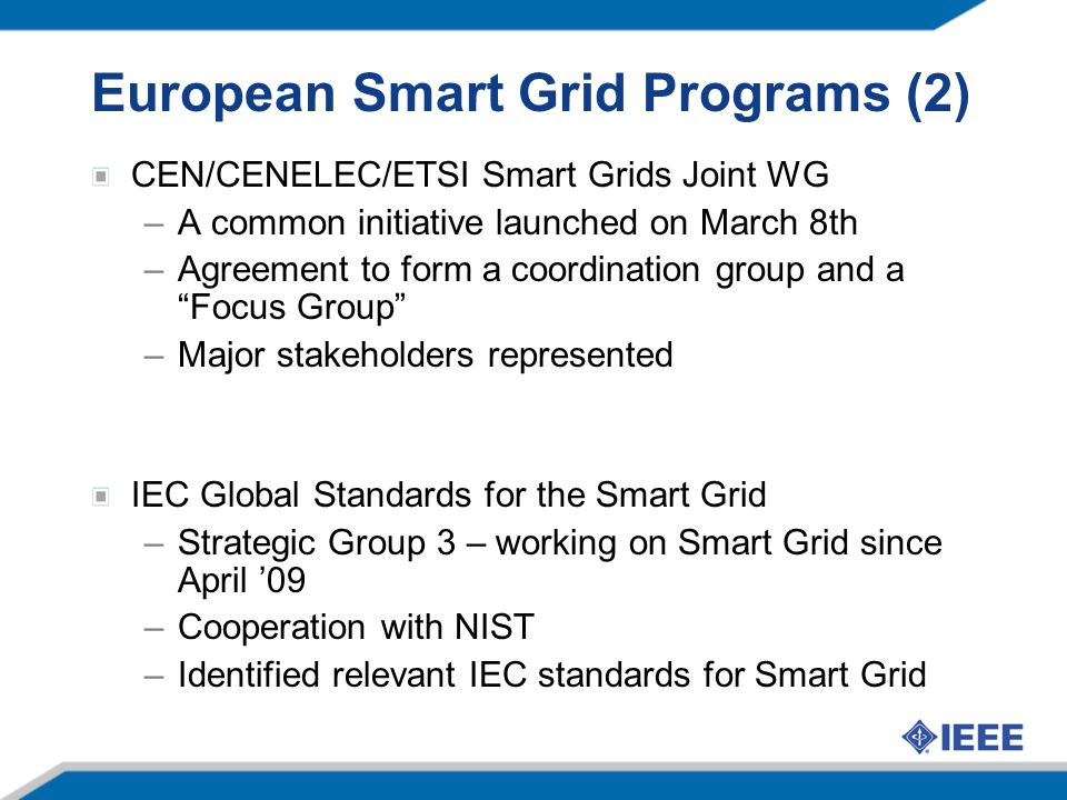 European Smart Grid Programs (2)