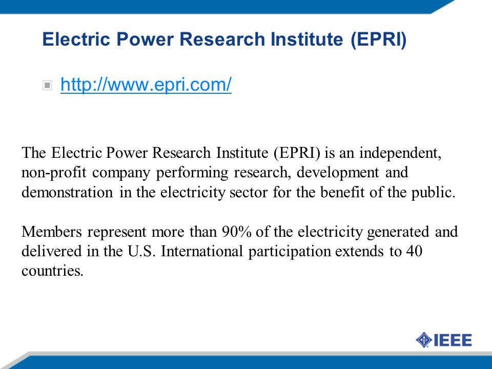 Electric Power Research Institute (EPRI)