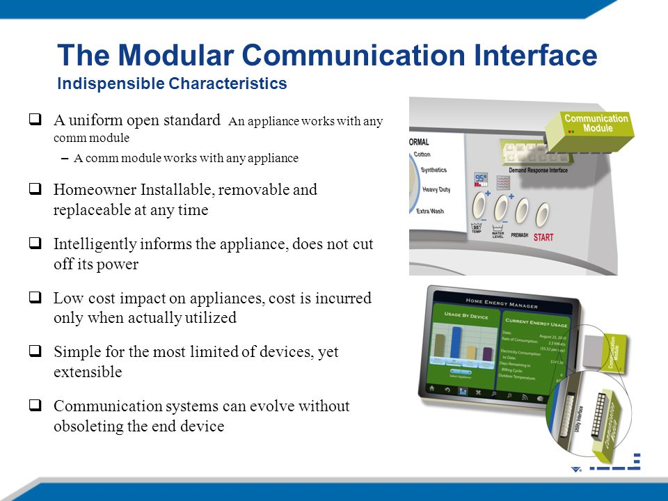 The Modular Communication Interface Indispensible Characteristics