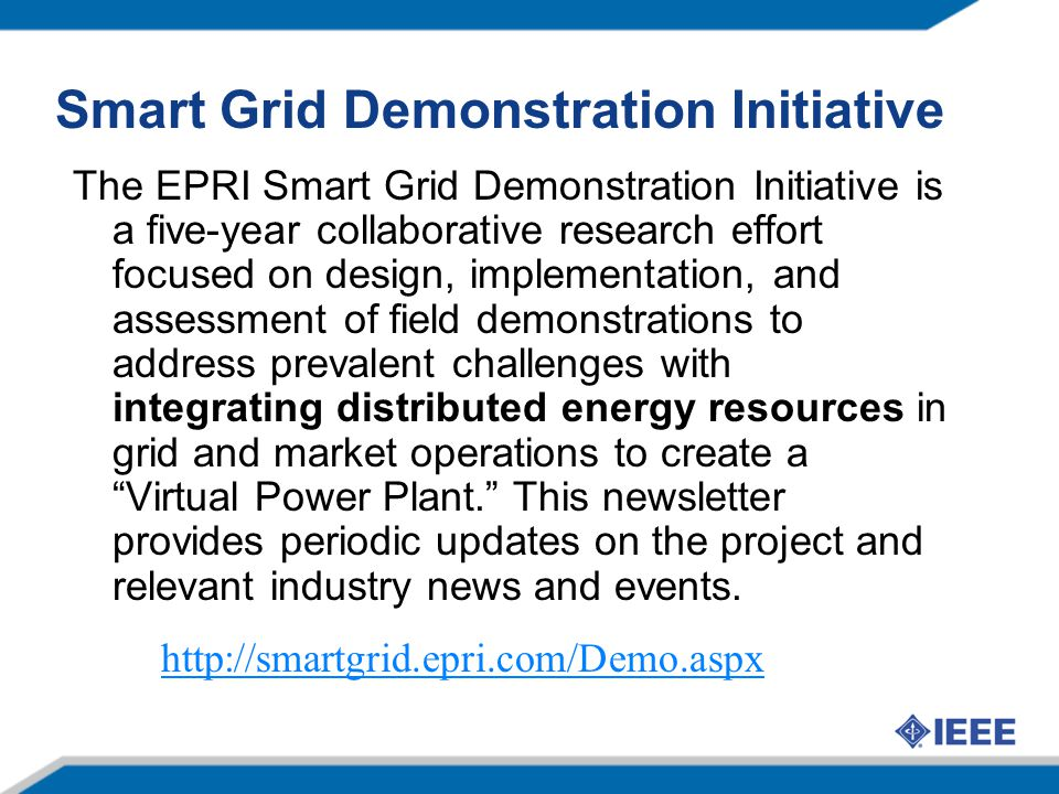 Smart Grid Demonstration Initiative