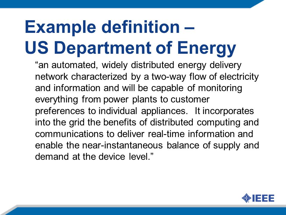 Example definition – US Department of Energy