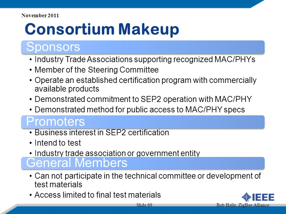 Consortium Makeup Sponsors Promoters General Members
