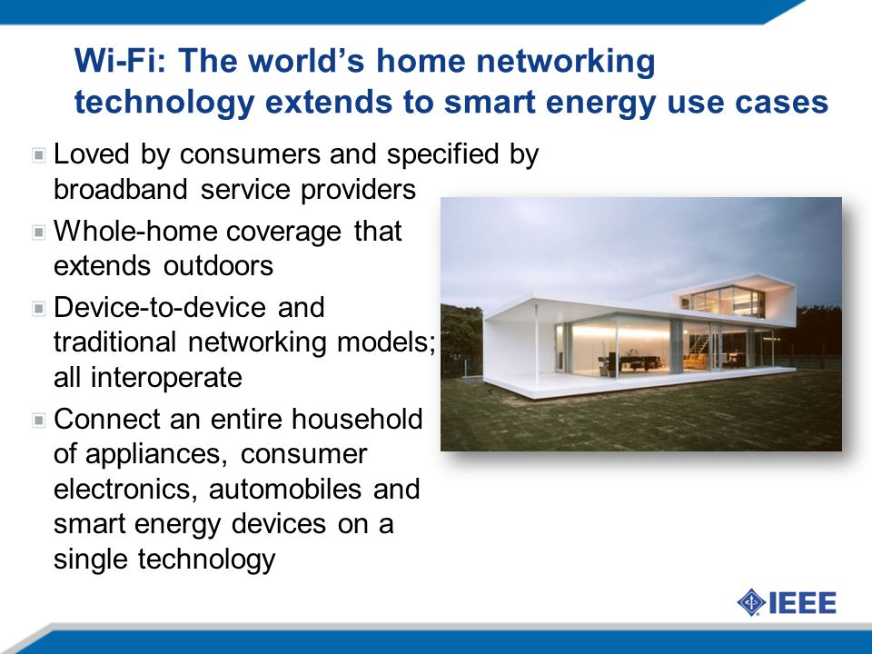 Wi-Fi: The world's home networking technology extends to smart energy use cases