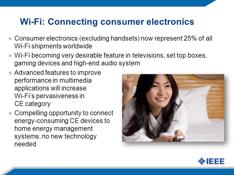 Wi-Fi: Connecting consumer electronics