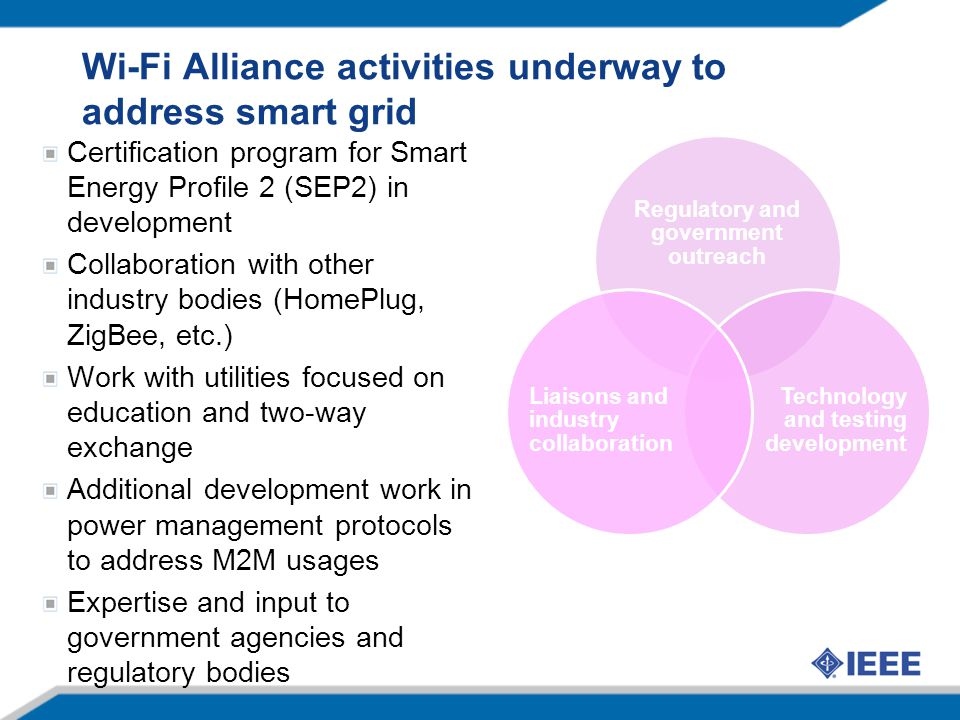 Wi-Fi Alliance activities underway to address smart grid