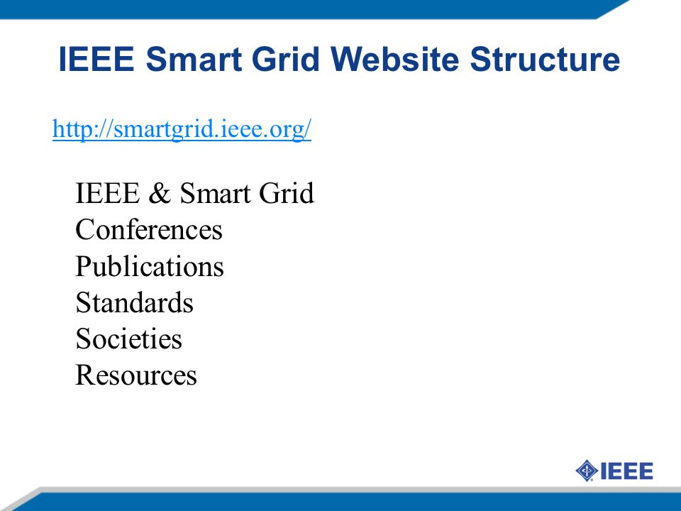 IEEE Smart Grid Website Structure