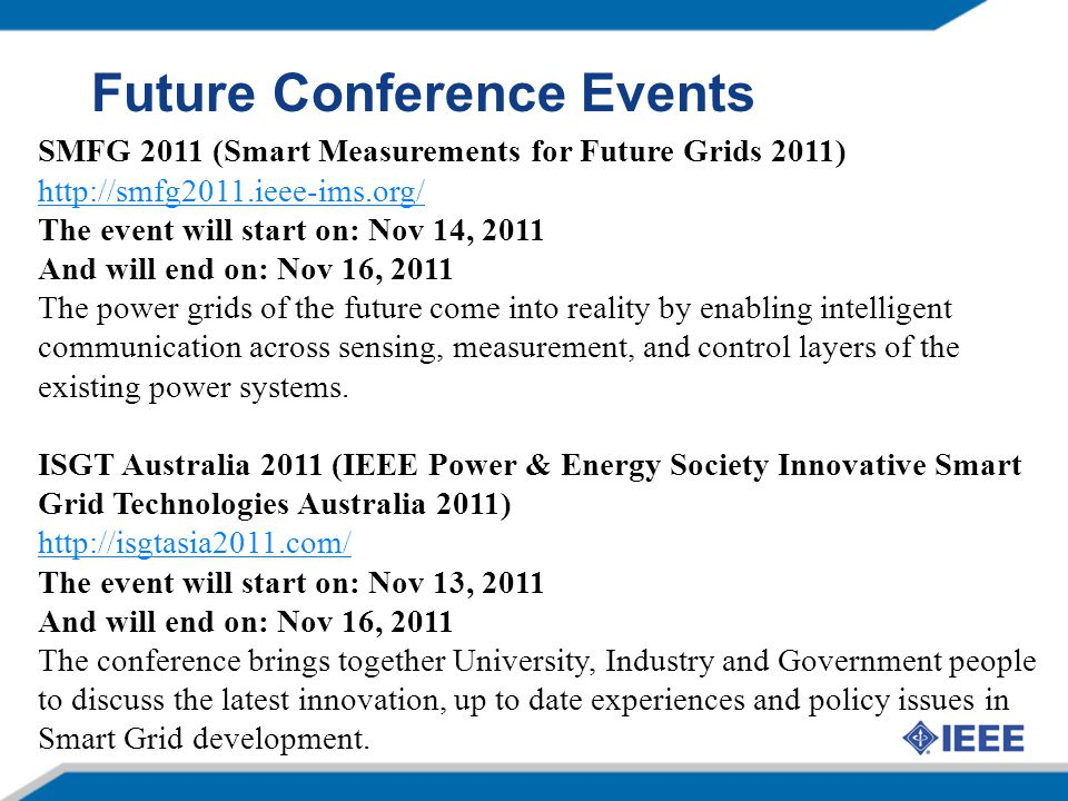 Future Conference Events