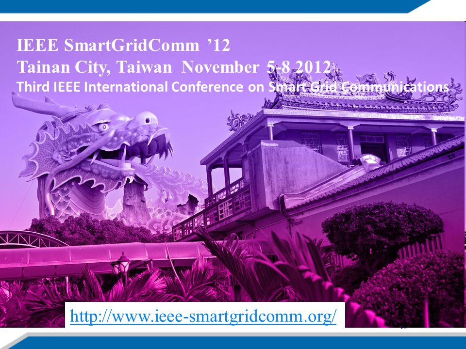 Tainan City, Taiwan November 5-8 2012