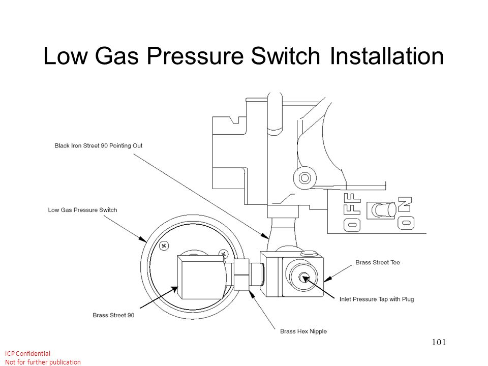 Low Gas Pressure Switch Installation