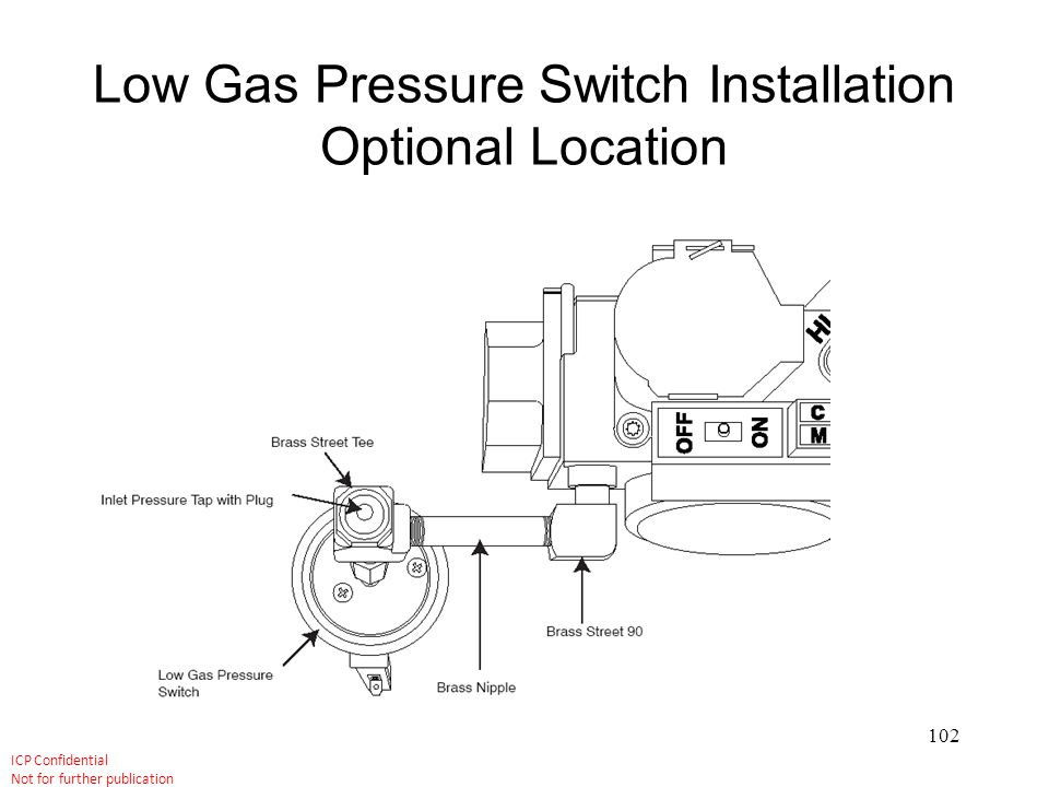 Low Gas Pressure Switch Installation Optional Location