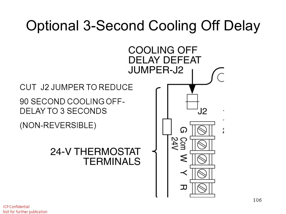 Optional 3-Second Cooling Off Delay