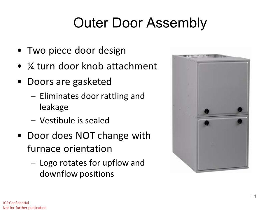 Outer Door Assembly Two piece door design ¼ turn door knob attachment