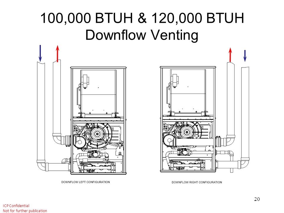 100,000 BTUH & 120,000 BTUH Downflow Venting