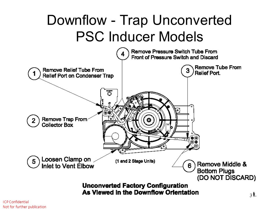 Downflow - Trap Unconverted PSC Inducer Models